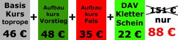 Anfänger Kletterkurs Bad Tölz + Bad Heilbrunn