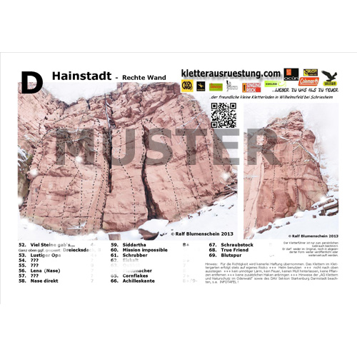 Topo Hainstadt Kletterführer zum download