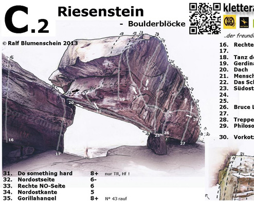download Topo Riesenstein Kletterführer