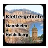 Klettergebiete Kletterhallen Mannheim Heidelberg Odenwald