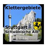 Klettergebiete Kletterhallen Stuttgart Schwaben Schäbische Alb