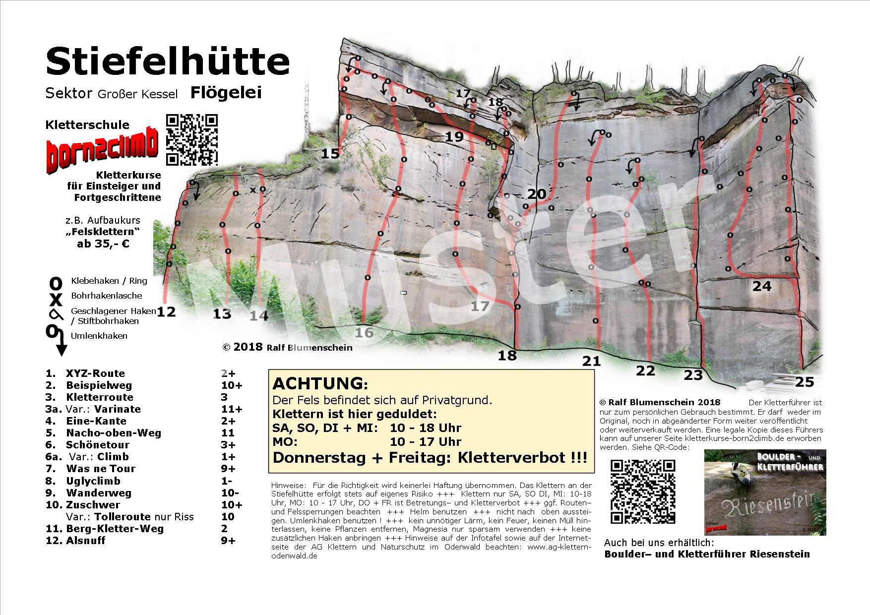 Stiefelhütte Topo zum download