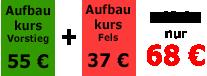 Aufbau Kletterkurse Fels in Heidelberg am Riesenstein